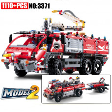 DECOOL 3371 Airport Rescue Vehicle 2 in 1|TECH