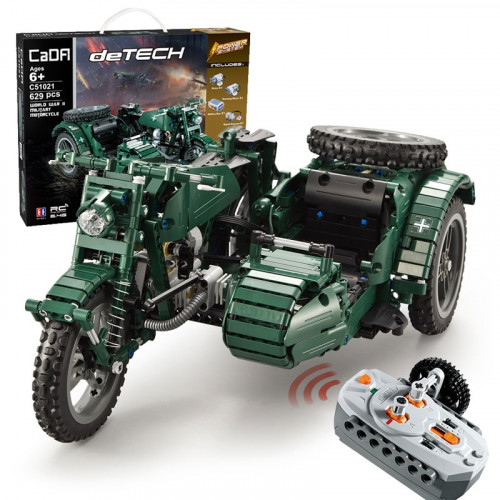 CADA C51021 WW2 MILITARY RC MOTORCYCLE|TECH