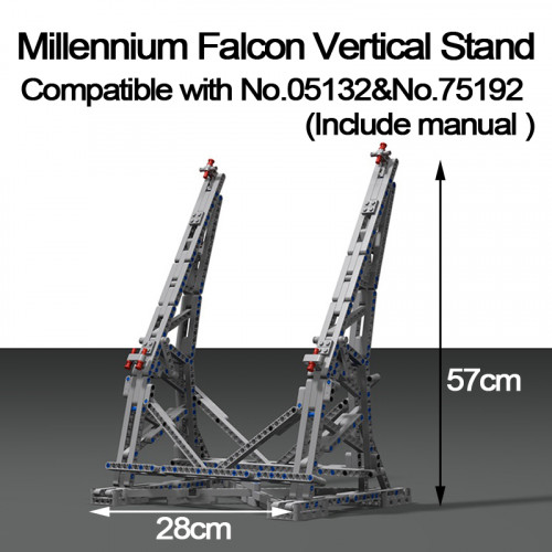 Millennium Falcon Vertikale Display Fur 05132 / 75192|MOC