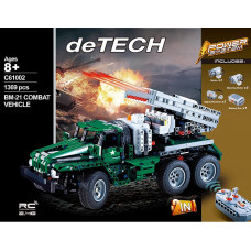 CADA C61002 Rocket Launcher Truck 2 In 1|TECH