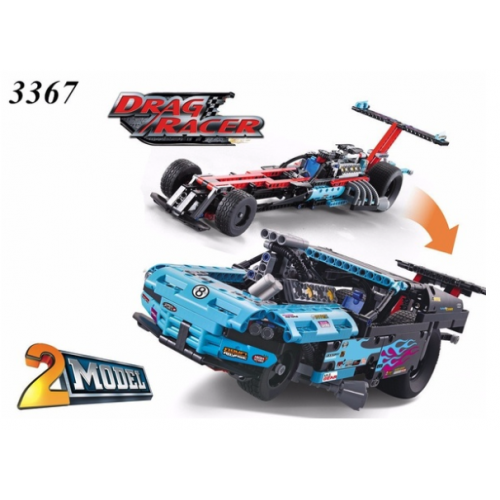 DECOOL 3367 RACING TRUCK CAR 2 IN 1 |TECH