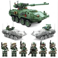 KAZI KY10001 Creator Century Military MGS-M1128|Tank