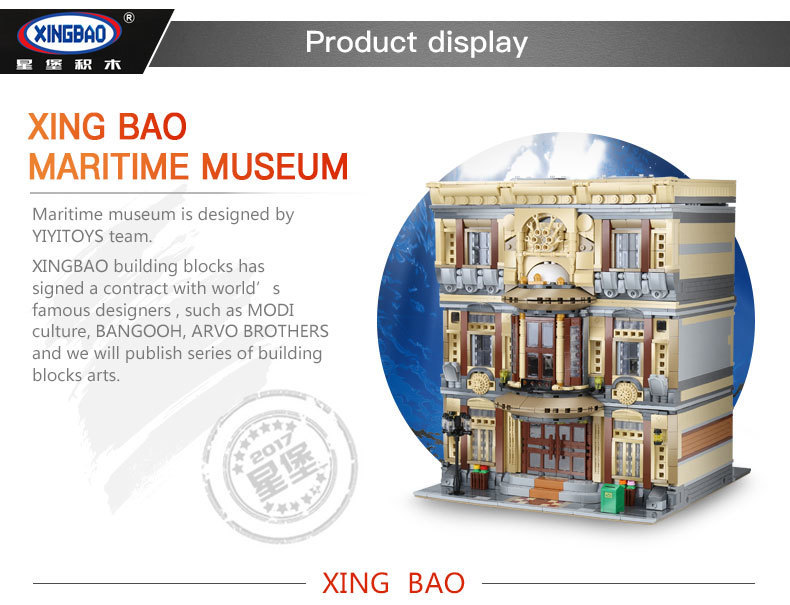 XingBao-01005-5052Pcs-Genuine-Creative-MOC-City-Series-The-Maritime-Museum-Set-Building-Blocks-Bricks-Toys-Model-DIY-Gifts-32833008942