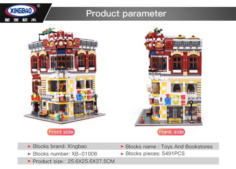 XingBao-01006-5491Pcs-the-Genuine-Creative-MOC-City-Series-The-Toys-and-Bookstore-Set-Building-Blocks-Bricks-Toy-Model-Gift-32853465242