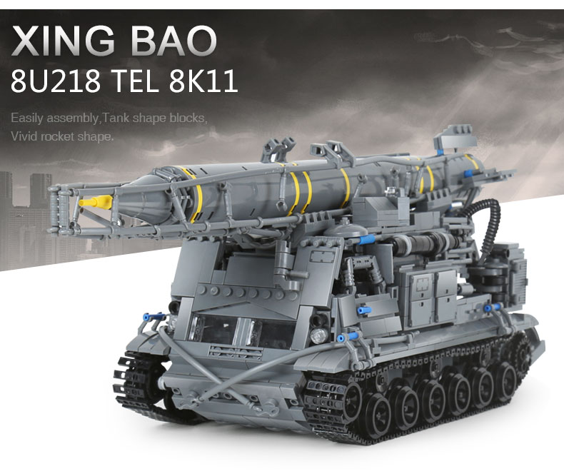 Xingbao-06005-Military-Tanks-Series-The-8U218-TEL-8K11-Set-legoing-Buildings-Blocks-Bricks-Soldier-World-Wars-Boys-Toys-Gifts-32832617563